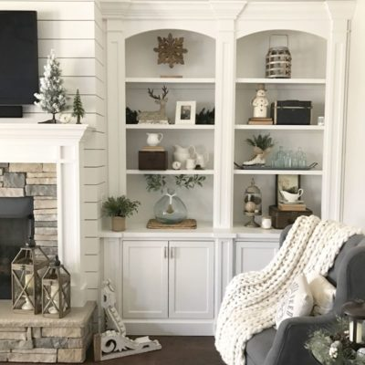 styled book shelves