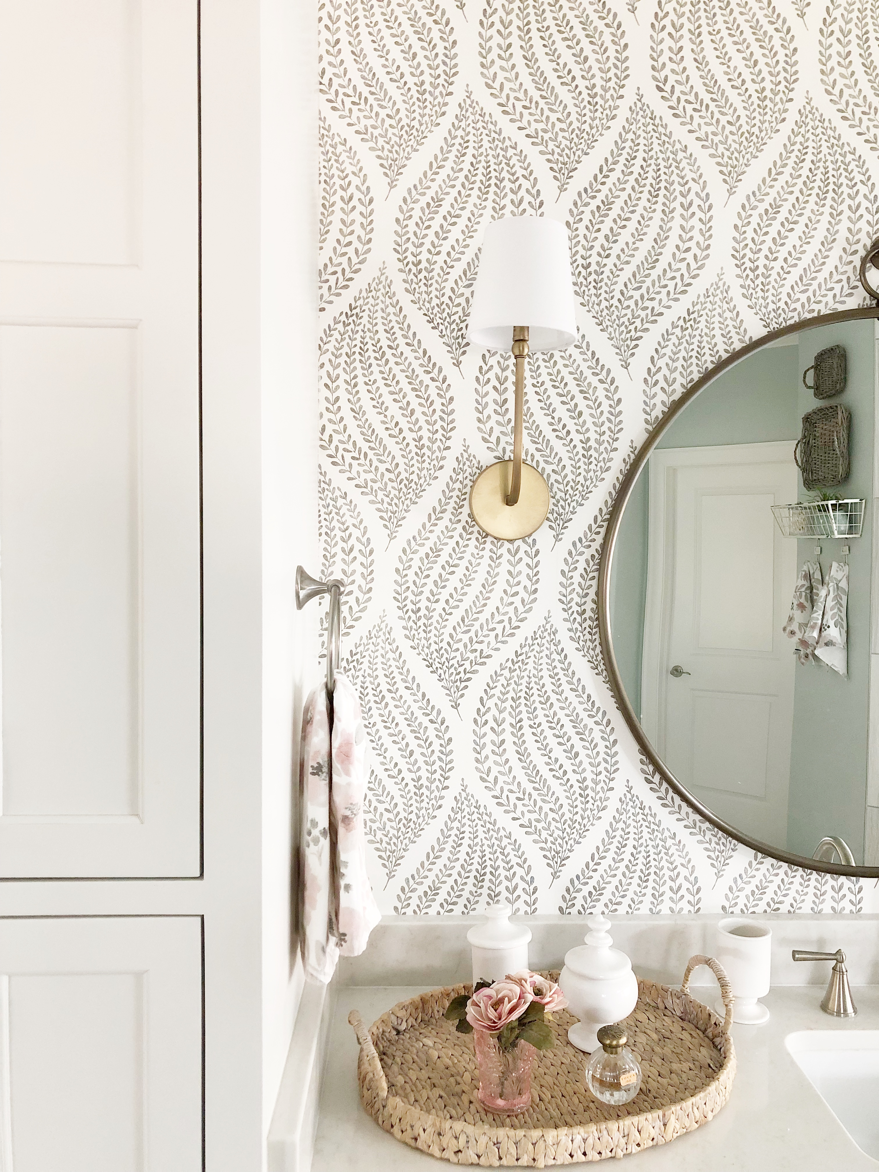 How To Transform Your Bathroom With Wallpaper Our Vintage Nest