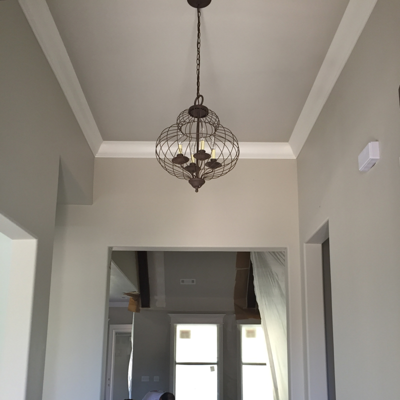 farmhouse foyer chandelier interior lighting sources for our modern farmhouse our 183