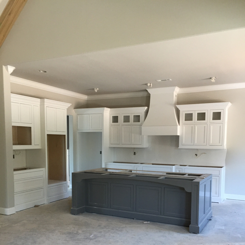 Kitchen With Gray Island