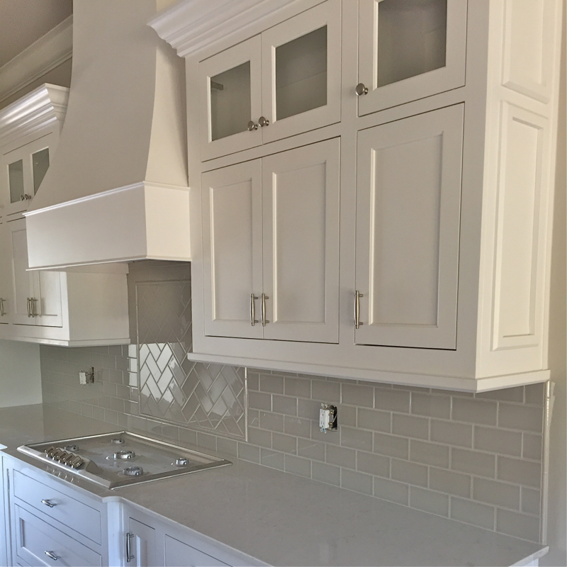 Kitchen Countertops And Tile Details Of
