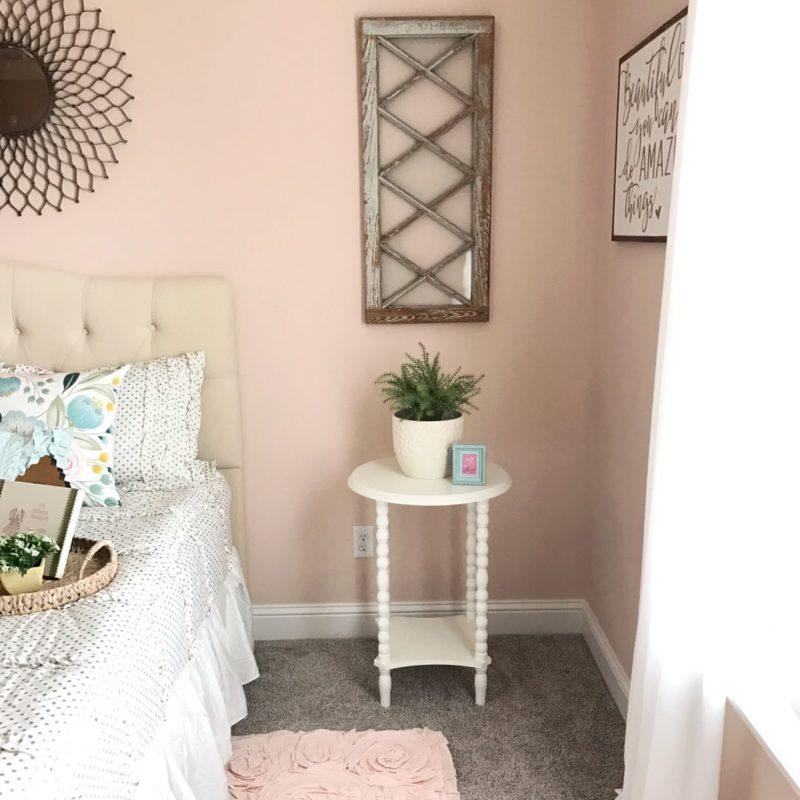 girls vintage bedroom reveal